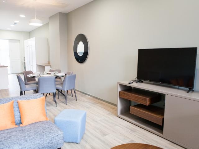 Sprachaufenthalt Irland, Dublin - EC - Accommodation - LIV Residence - Wohnzimmer