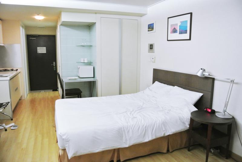 Sprachaufenthalt Korea, Busan - Lexis Korea Busan - Accommodation - Mini Studio - Bett