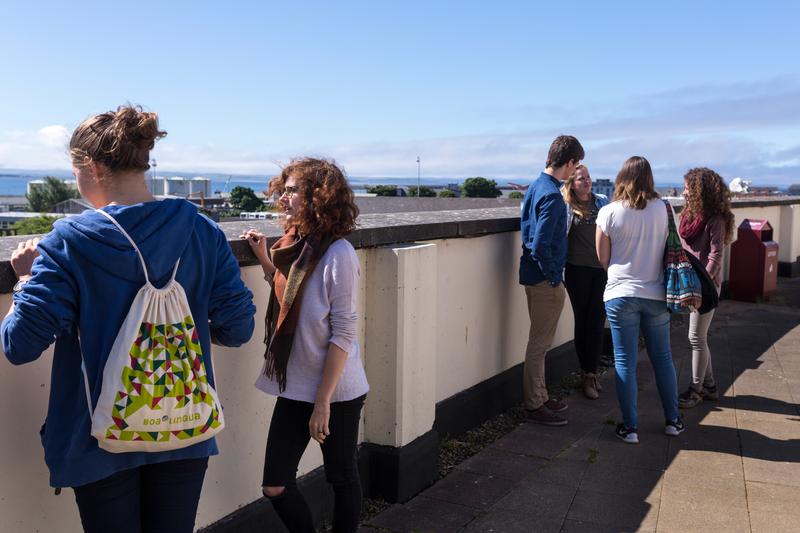 Sprachaufenthalt Irland, Galway - Atlantic Language School Galway - Terrasse