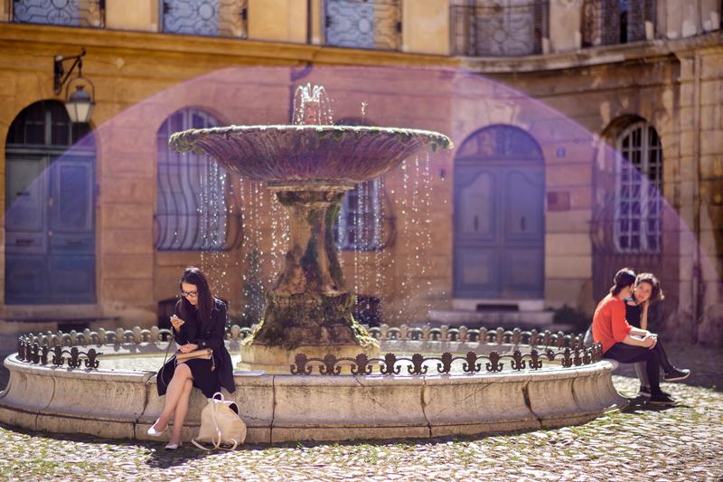 Sprachaufenthalt Frankreich, Aix en Provence - Brunnen