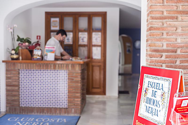 Sprachaufenthalt Spanien, Nerja - Escuela de Idiomas Nerja - Rezeption