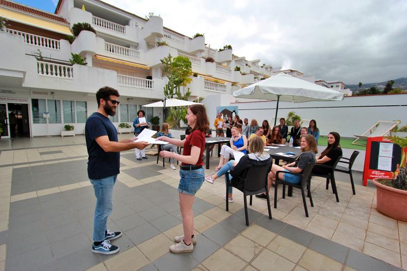 Sprachaufenthalt Spanien, Teneriffa - FU International Academy Tenerife - Terrasse