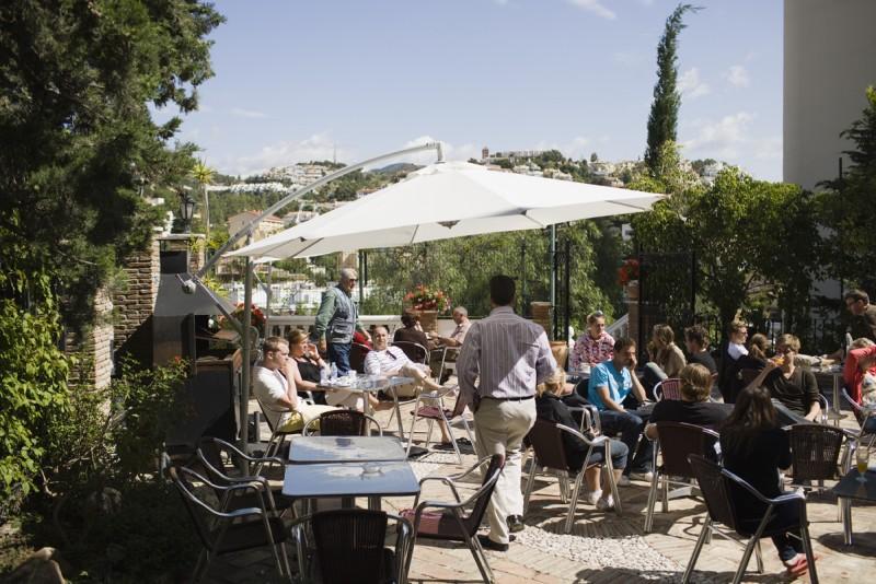 Sprachaufenthalt Spanien, Málaga - Malaca Instituto Málaga - Terrasse