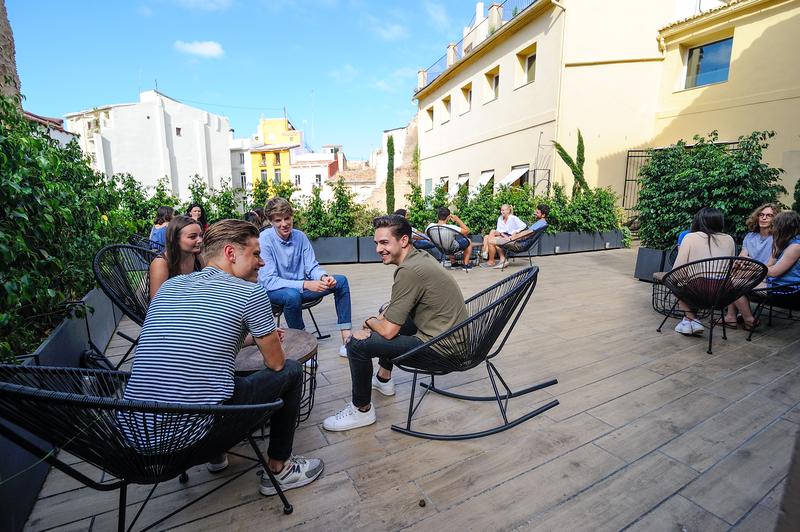 Séjour linguistique Espagne, Valencia – Espagnole International House - Terrasse