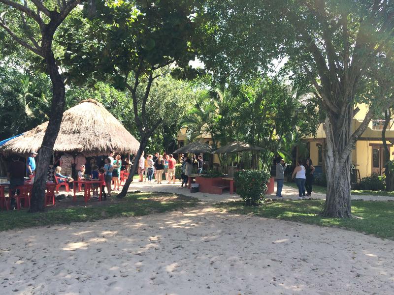 Sprachaufenthalt Mexico, Playa del Carmen - Don Quijote Playa del Carmen - Garten