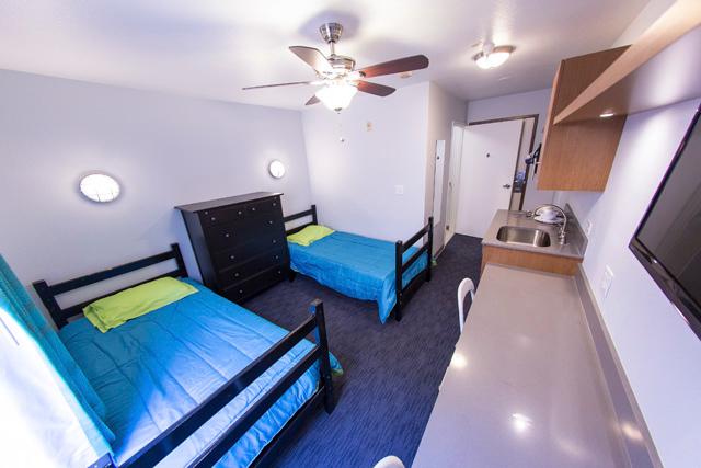 Sprachaufenthalt USA, San Diego - Converse San Diego - Accommodation - Residenz State Street Vantaggio - Zimmer