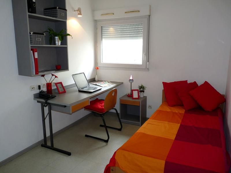 Sprachaufenthalt Frankreich, Montpellier - Institut Linguistique Adenet Montpellier - Accommodation - Student Residenz - Schlafzimmer
