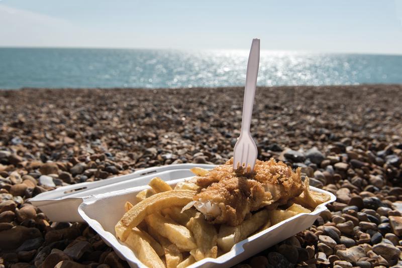 Sprachaufenthalt England, Brighton - Fish n Chips