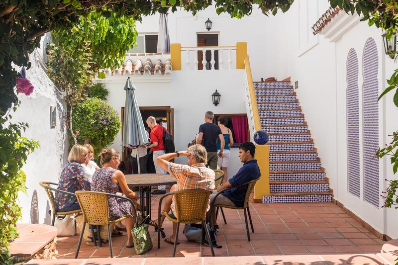 Sprachaufenthalt Spanien, Nerja - Escuela de Idiomas Nerja - Terrasse