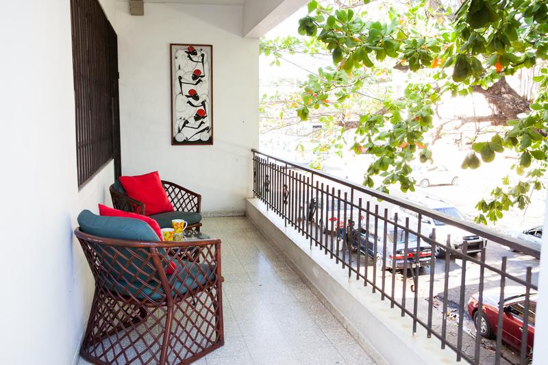 Sprachaufenthalt Dominikanische Republik - Santo Domingo - Instituto Intercultura Santo Domingo - Accommodation - Residenz - Balkon