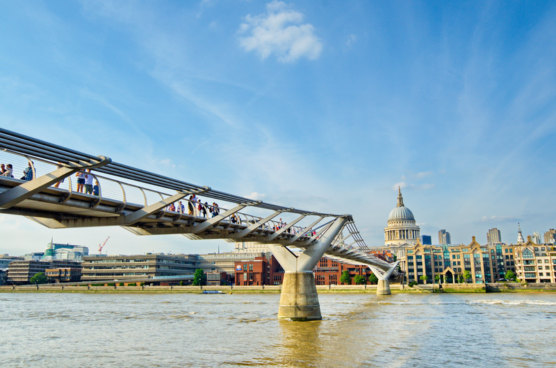 Sprachaufenthalt England, London - Millenial Bridge