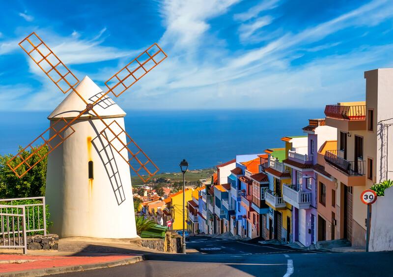 Sprachaufenthalt Spanien, Teneriffa - Windmühle