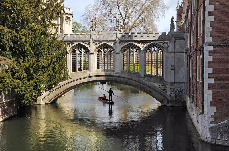 Sprachaufenthalt England, Cambridge - Punting auf der Cam