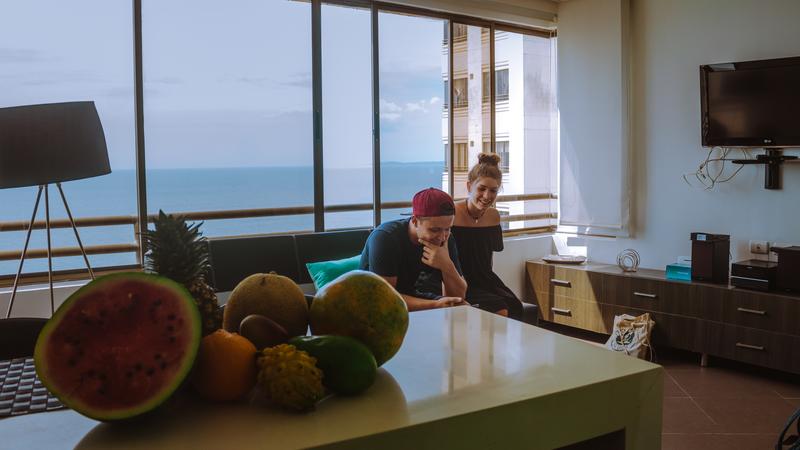 Sprachaufenthalt Kolumbien, Cartagena - Centro Catalina Cartagena - Accommodation - Apartment - Wohnzimmer