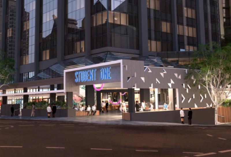 Sprachaufenthalt Australien, Brisbane - Langports Brisbane - Accommodation - Apartment Student One - Eingang