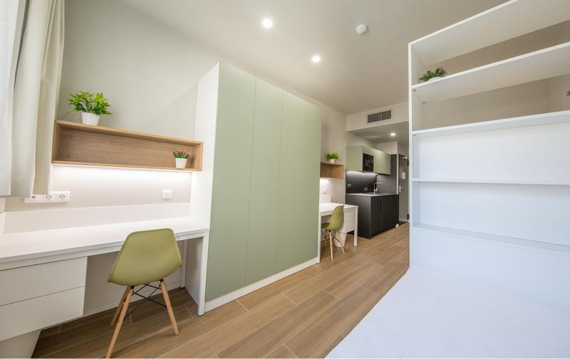 Srachaufenthalt Spanien, Barcelona - Expanish Barcelona - Accommodation - The Loft Town - Doppelzimmer