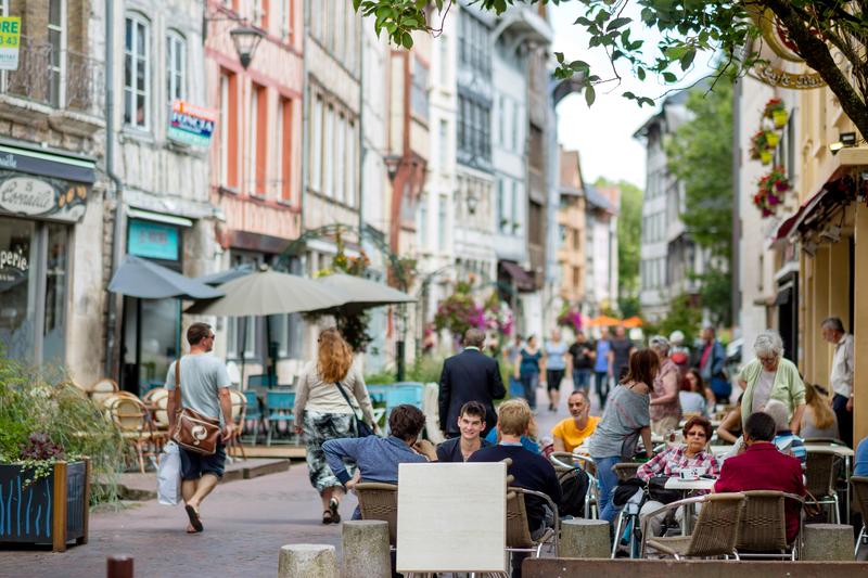 Sprachaufenthalt Frankreich, Rouen - Cafe