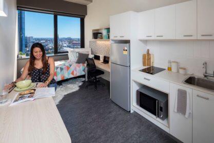 Sprachaufenthalt Australien, Brisbane - Langports Brisbane - Accommodation - Apartment Student One - Küche