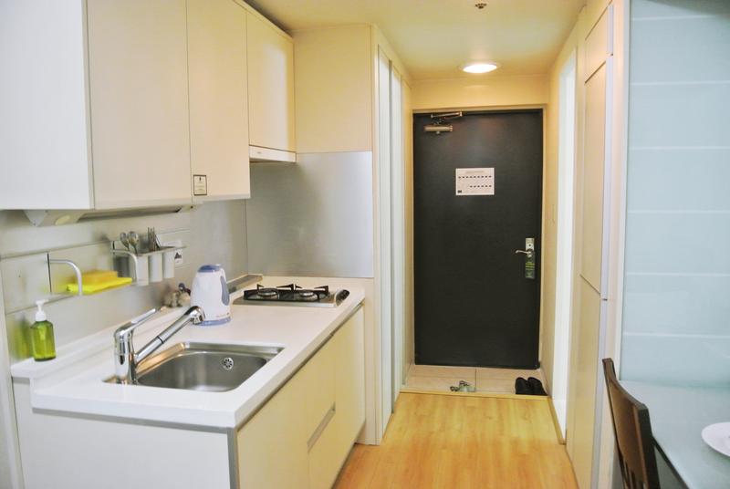Sprachaufenthalt Korea, Busan - Lexis Korea Busan - Accommodation - Mini Studio - Küche