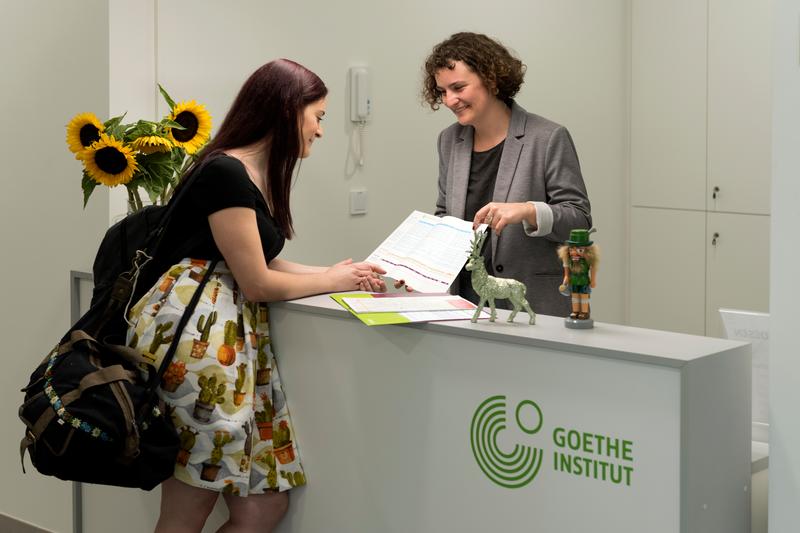 Séjour linguistique Allemagne, Goethe Institut Göttingen - Réception © Goethe-Institut da Silva