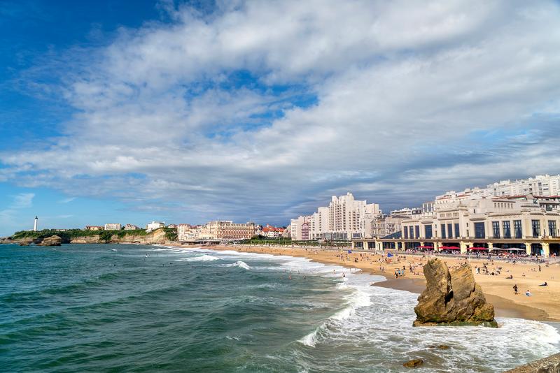 Sprachaufenthalt Frankreich, Biarritz - Strand