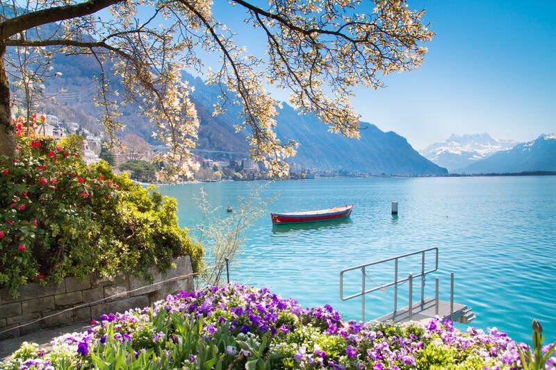 Sprachaufenthalt Schweiz, Montreux - Genfersee