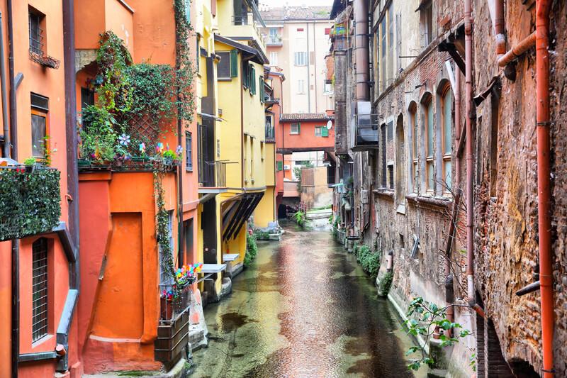 Sprachaufenthalt Italien, Bologna - Canal in Bologna