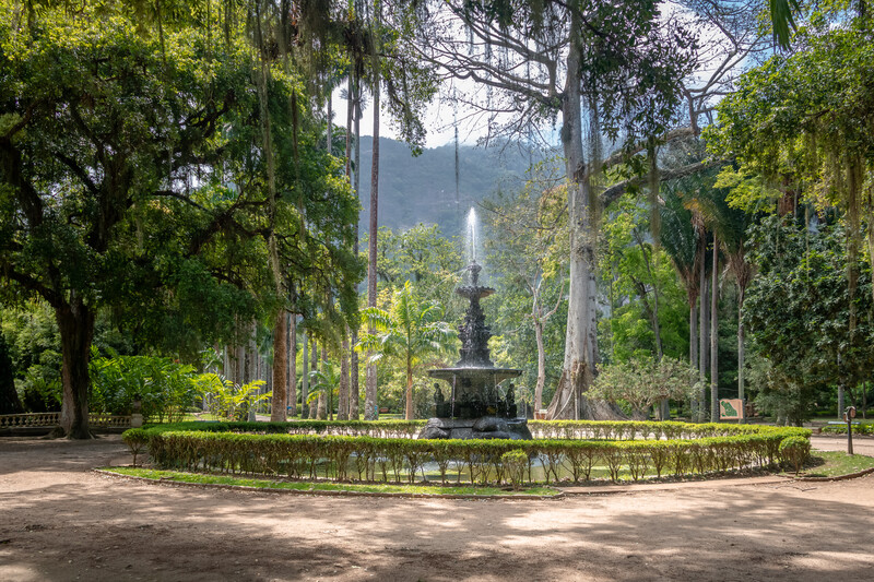 Fountain of the Muses at Jardim Botanico Botanical Garden - Rio de Janeiro, Brazil