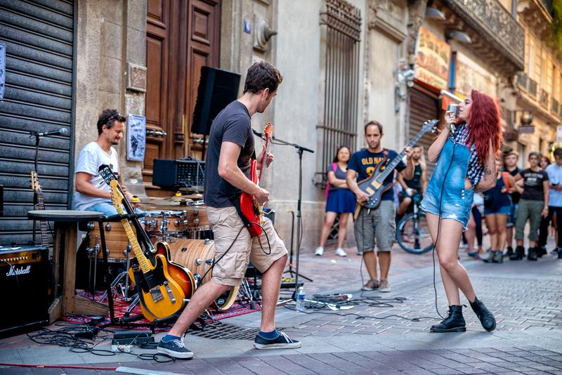Sprachaufenthalt Frankreich, Montpellier - Strassenmusik
