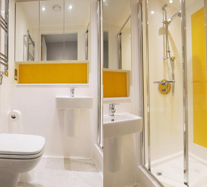 Sprachaufenthalt England - Cambridge - Stafford House Cambridge - Accommodation - Student Castle - Badezimmer
