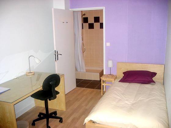 Sprachaufenthalt Frankreich, Montpellier - Institut Linguistique Adenet Montpellier - Accommodation - Room on University Campus - Schlafzimmer
