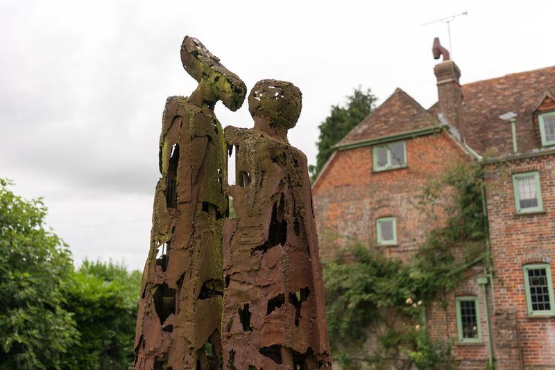 Sprachaufenthalt England, Warnford - Skulpture