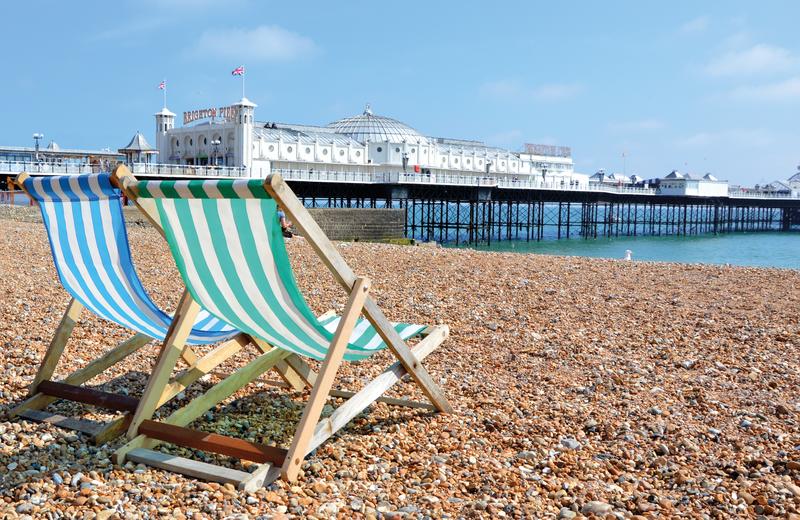 Sprachaufenthalt England, Brighton - Strand