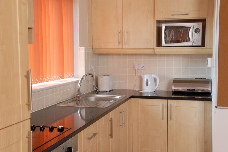 Sprachaufenthalt Irland, Cork - ACET - Accommodation - Apartment - University Hall - Küche