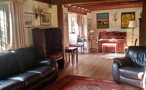 Sprachaufenthalt England, Warnford - Riversdown House Warnford - Accommodation - Gästezimmer - Wohnzimmer