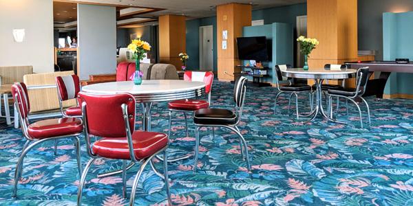 Sprachaufenthalt USA, Hawaii - IIE - Accommodation - Residenz Waikiki Vista - Lounge