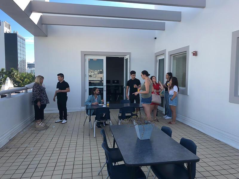 Sprachaufenthalt USA, Miami - OHC Miami - Terrasse