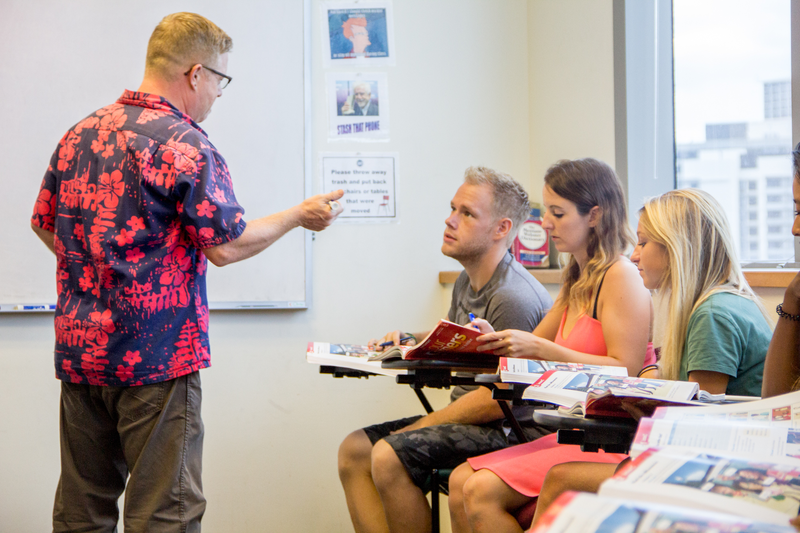 Séjour linguistique USA, Hawaii – IIE - Leçon