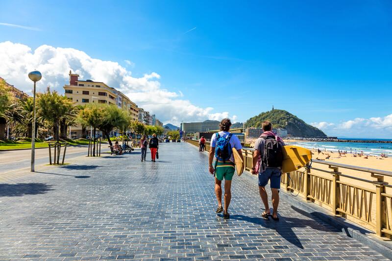 Sprachaufenthalt Spanien, San Sebastián - Promenade