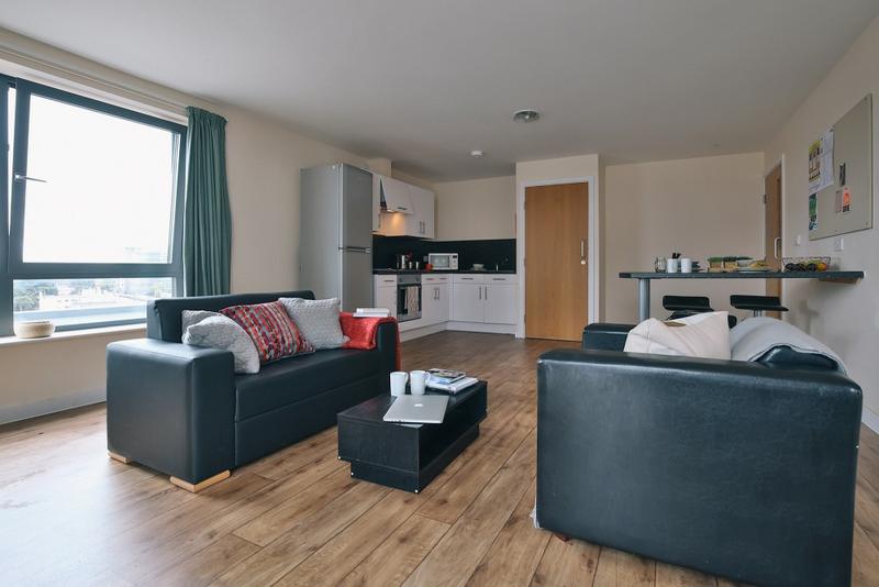 Sprachaufenthalt England, Bournemouth - BEET Language Centre Bournemouth - Accommodation - Summer Apartments - Wohnzimmer