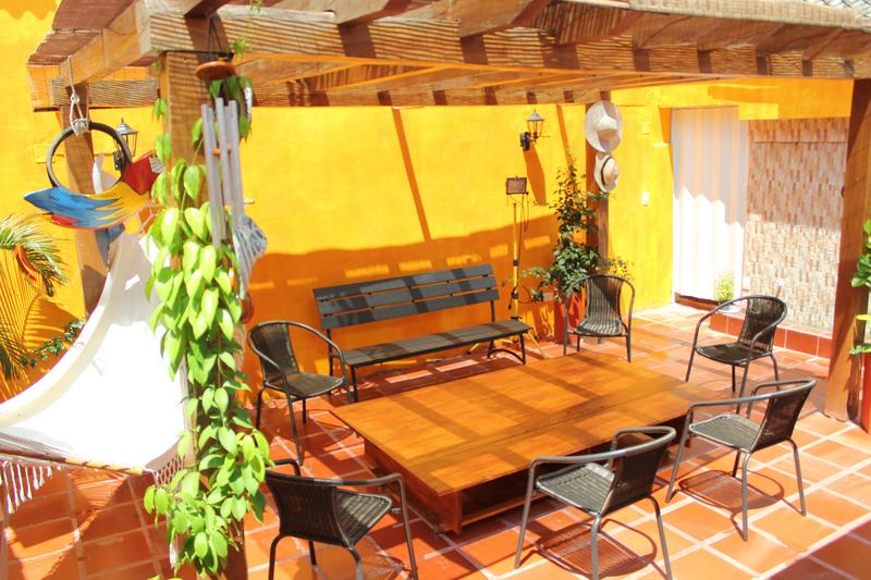 Sprachaufenthalt Kolumbien, Cartagena - Centro Catalina Cartagena - Terrasse