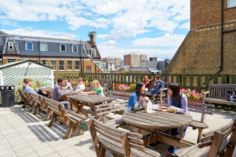 Sprachaufenthalt England, London - St Giles London Central - Terrasse