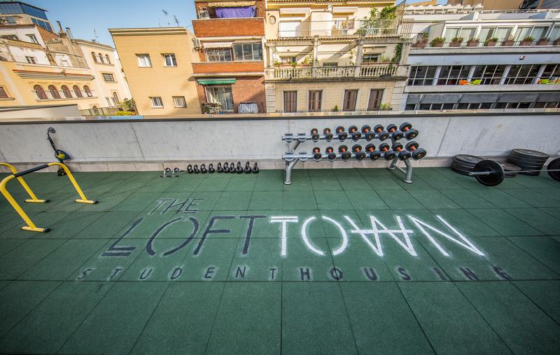 Srachaufenthalt Spanien, Barcelona - Expanish Barcelona - Accommodation - The Loft Town - Terrasse