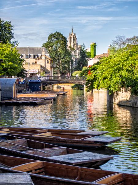 Sprachaufenthalt England, Cambridge - Punting