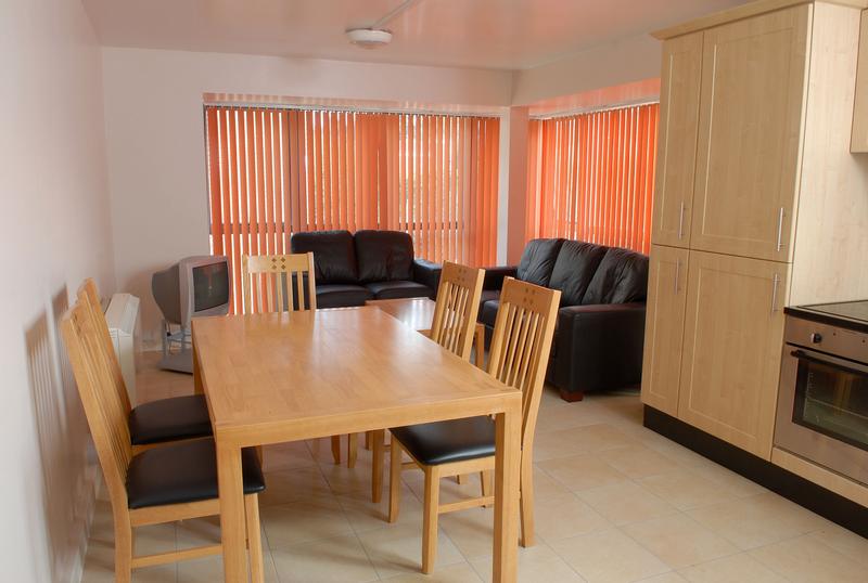 Sprachaufenthalt Irland, Cork - ACET - Accommodation - Apartment - University Hall - Wohnzimmer