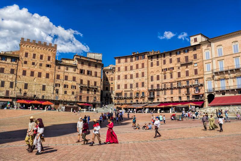 Sprachaufenthalt Italien, Siena - Piazza del Campo