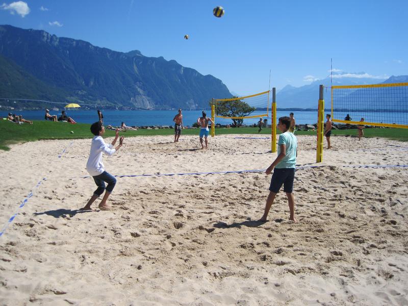Séjour linguistique Suisse, Montreux - Volleyball