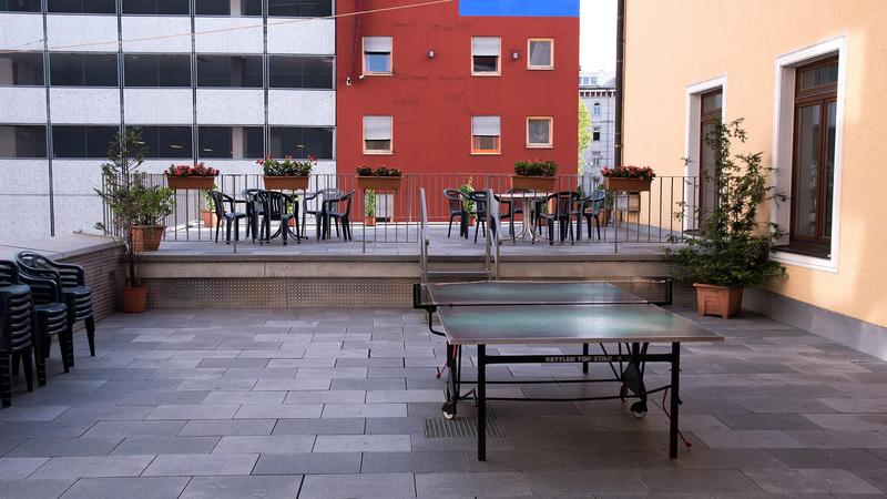 Séjour linguistique Allemagne, München - DID Deutsch Institut München - Terrasse