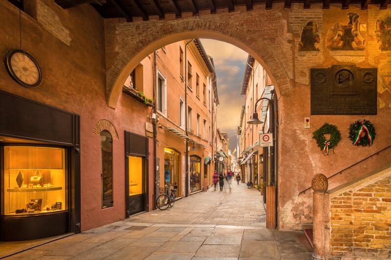Sprachaufenthalt Italien, Ravenna - Einkaufsstrasse