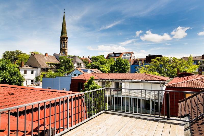 Sprachaufenthalt Deutschland, Freiburg - Alpadia Freiburg - Accommodation - Apartment Erwinstrasse - Terrasse